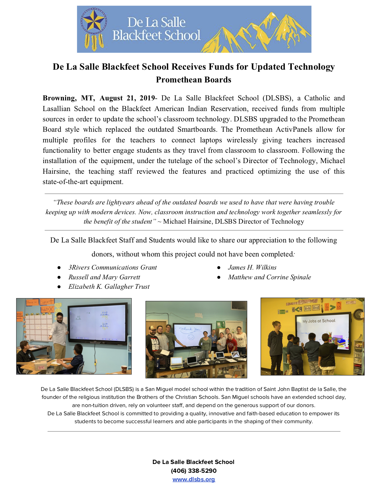 News Release Promethean Board 1